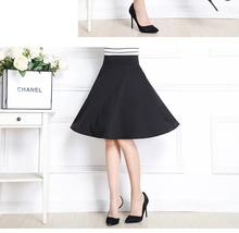 Autumn And Winter Pleated Skirt Grown Place Umbrella Skirt Retro Waisted Body Skirt New Europe And The Code Word