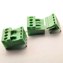 5 set 90 degrees, Right Angle Terminal Blocks connector kits 3.96mm 4pins including plug+ right angle 90 degrees pin socket(China)