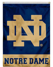 University of Notre Dame House Vertical college banner 3X5ft Garden Flag(China)