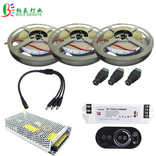 15M 5730 LED Strip White Waterproof Warm White 10M 5M LED Tape Brighter 5630 +RF Remote Dimmer DC12V +LED Adapter Power Supply(China)