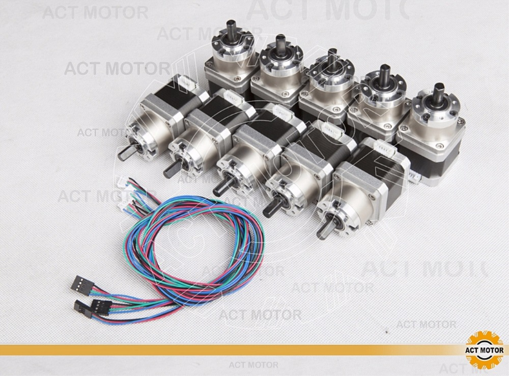 Shipping from China!ACT 10PCS Nema17 Stepper Motor 17HS4413AG5.18-X 60oz-in 40mm 1.3A 4-lead CE ROHS ISO DE CA US JP FREE<br>