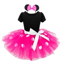 Hot Girls Polka Dot Tutu Ballet Dress with Headband Baby Christmas Gift Party Gymnastics Leotard for girls(China)
