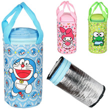 Amazing Cute Cartoon Animal Duck Mini0ns Doraem0n Infant Baby Feeding Bottle Bag Warmers Bag(China)