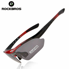 RockBros Polarized Cycling Bike Sun Glasses Outdoor Sports Bicycle Bike Sunglasses TR90 Goggles Eyewear 5 Lens Bicycle Accessory