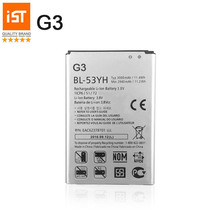 100% IST Original Mobile Phone Battery For LG G3 D855 D850 D858 D859 F460 VS985 BL53YH 3000mAh Replacement Batteries(China)