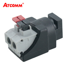 DC Male Female Jack Connector Plug Adapter Tool-free installation Apply to 3528 5050 Single Color LED Strip Light CCTV Camera(China)