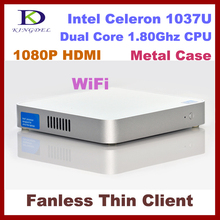 4GB&320GB Fanless thin client computer ,Dual core Intel Celeron 1037U 1.8Ghz,HDMI, WIFI,Windows 7,3D Game