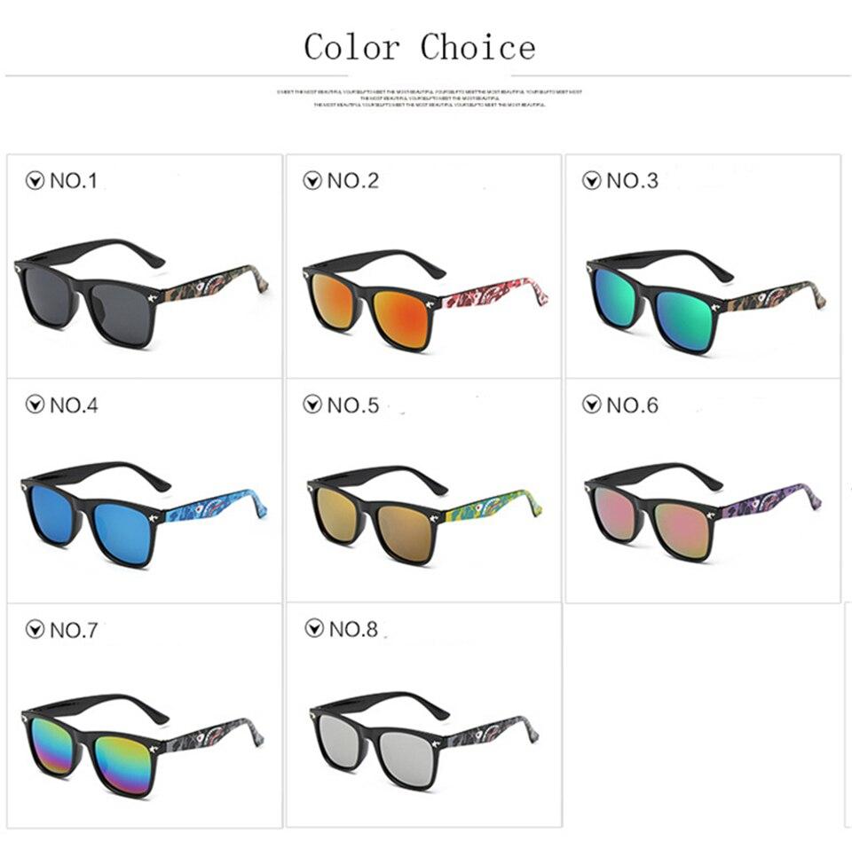 Fashion Kids Sunglasses lovely Sunglasses Mosaic Boys Girls Pixel Eyewares With Case Children Gift (28)