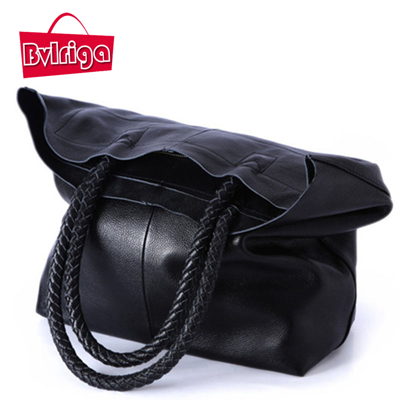 BVLRIGA 100% genuine leather bag luxury handbags women bags designer handbags women famous brands top-handle women shoulder bags