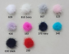 50pcs  35mm Mink Fur Craft pompon ball pom pom lovely pompoms for Hairpins hair barrettes ornament accessories GR101