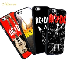 Minason Luxury Phone Case AC DC ACDC Group Solo Iconic For iPhone X 8 5 5S 6 6plus 6S Plus 7 7plus Black Silicone Soft Case(China)