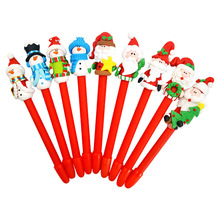 Gift Idea Santa Claus Ballpoint Pen To Send Children Girl Christmas Eve Small Gift Adornment Dress Up HL(China)