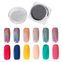 1g/Box Nail Glitter Rainbow Powder Shining Aluminium Chrome Pigment Holographic Eyeshadow Dust DIY Laser Sequins Makeup Manicure