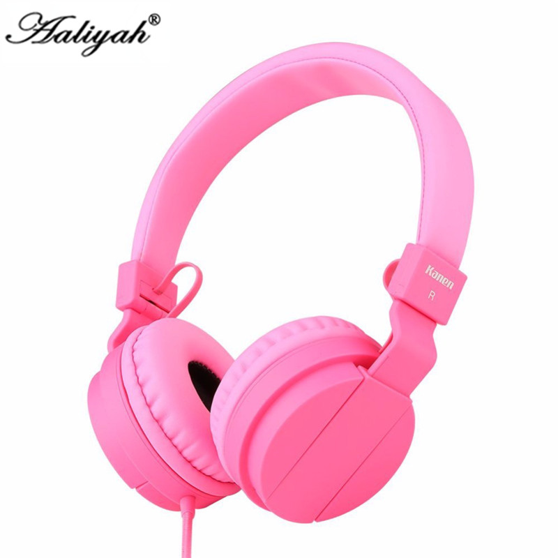 Aaliyah Girls Headphones Adjustable Headband Headset Kids girls headset  Lightweight  pink  headphones  with Mic for Cellphone<br><br>Aliexpress