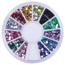 1000Pcs/lot Diamond fake nails Domestic Rhinestone 12 color Nail diamond box Phone beauty diamond 8z-cx682