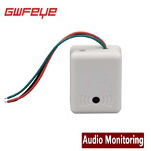 GWFEYE Mini AUDIO CCTV Microphone MIC For Security DVR Cameras Audio Monitor Sound pickup Head Low Noise