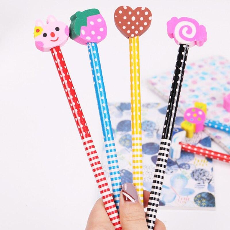 10 pcs/Set Cute Cartoon Kawaii Korea Novelty Standard Pencils Creative Gift for Kids Children Stationery School Supplies