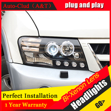 Auto Clud Car Styling for Mitsubishi Pajero V73 LED Headlight Bi Xenon Headlights drl Lens Double Beam H7 HID Car Parts