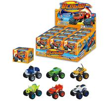Hot Sale 6pcs/set Blaze Monster Machines Toys Vehicle Car Pickle Zeg Darrington Crusher Stripes Original Box Best Gifts For Kid