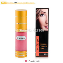 Hao Tattoo JX23 Powder Pink Eyebrow Permanent Makeup Pigment Vacuum Sterile Cosmetic Tattoo Ink 45ml Makeup Supplies