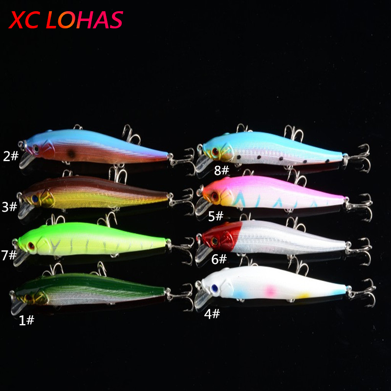 11.5cm 13g Bent Minow Fishing Lure Hard Plastic Artificial Lures 3D Fish Eye Swim Bait Crankbait Fake Baits Factory Price MI084<br><br>Aliexpress