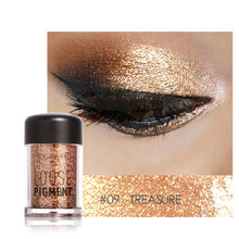 Focallure Brand Glitter Eyeshadow Powder Waterproof Loose Shimmer Eyeshadow Pigment 3D Nude Metallic Eye Shadow Makeup Cosmetics(China)