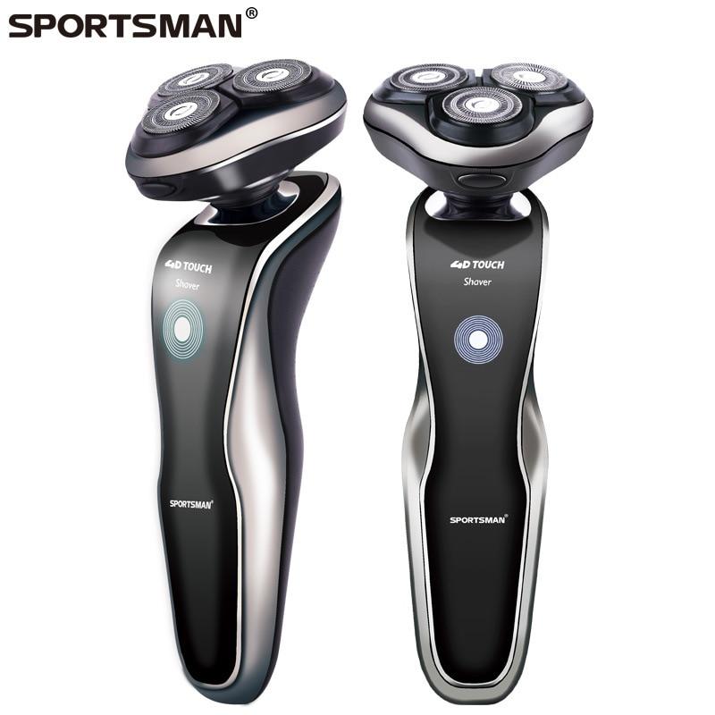 SPORTSMAN 220V Rechargeable Electric Shaver 3D Triple Floating Blade Heads Shaving Razors Face Care Men Beard Trimmer<br>