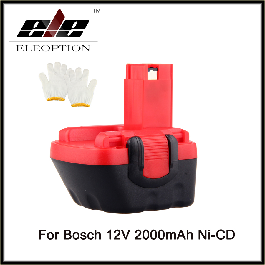 High Quality Eleoption New 12V 2000mAh Ni-CD Battery for Bosch GSR 12 VE-2, 2000mAH NI-CD BAT043 BAT045 BTA120 26073 35430(China)