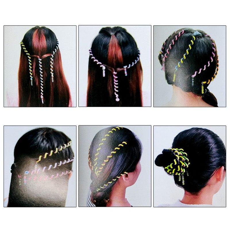 6PCS/Lot Rainbow Color Hairbands