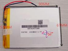 best battery brand Free shipping3.7V 556790 Universal 4500MAH 7 inch Tablet PC Onda VX610W batteries batteries(China)