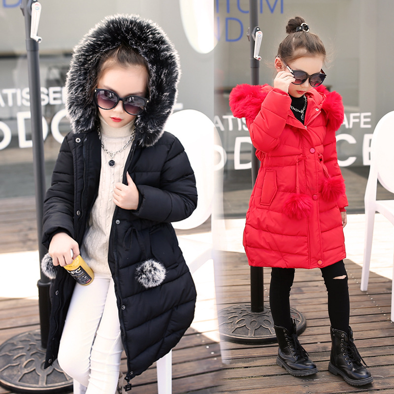 2017 Korean Outerwear Baby Winter Jackets Girls Warm Coat Children Cotton-padded Clothes Cotton Hair Bulb Clothes Kid JacketsÎäåæäà è àêñåññóàðû<br><br>