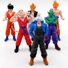1pcs Japanese anime cartoon Dragon Ball Z Vinyl Doll Super Saiyan Monkey keychain birthday gift toy Figures collectibles