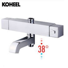 Buy Square Shower Bathroom Mixing Valve Core Waterfall Bathtub Thermostatic Faucet Wall Mounted Waterfall Bath Shower Mixer BT-09 for $171.29 in AliExpress store