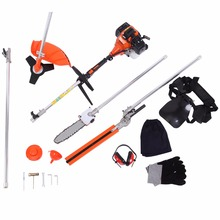 USA Local Shipping! Professional 5 in 1 52cc Multi Tool Garden Trimmer Brush Cutter Hedge Chainsaw Extension Pole(China)