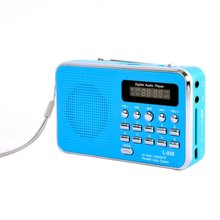 Portable Rechargeable Digital LED FM Radio MP3 Speaker Player Support TF Card Playing AUX Input Outdoor Music Player