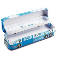 premium tin pencil case high quality stationery lovely train pencil box good present for children Deli 95559(China)
