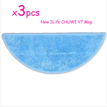 3pcs/lot Cleaning Mop for ILife CHUWI V7 smart Mop Robotic Vacuum Cleaner ILife v7 household cleaning CleanRobot