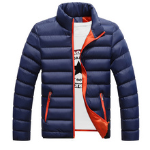 Men's Thick Padded Winter Adolescent Solid color White Duck Down Cotton Down Jacket Winter Jackets Outwear Plus Size M-4XL