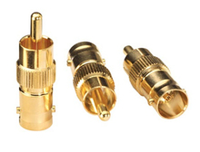 100pcs Gold plated BNC Female to RCA Phono Male Adapter