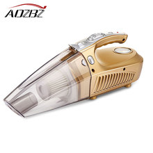 Aozbz car air compressor tyre inflator infaltion pump 120W handheld DC 12v car vacuum cleaner auto car portable dust brush