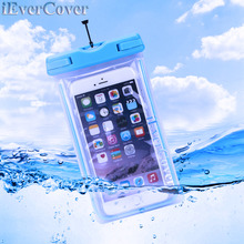 Waterproof Bag With Luminous Underwater Pouch Phone Case for Sony Xperia X Compact XA1 Ultra / XZs / XZ Premium / L1 Z5 M5 E5(China)