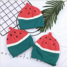 2017 New Brand Adorable Toddler Infant Child Kids Baby Girls Boys Watermelon Hat Knit Beanie Lovely Cap 1-6T(China)
