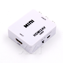 HDMI TO AV HD Video Converter Box HDMI to RCA AV/CVSB L/R Video 1080P HDMI2AV Output HDMI TO AV Scaler Switch Adapter