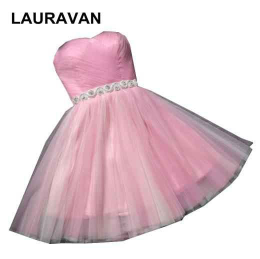 special occasion sweet 16 girls pageant strapless pink peach blue champagne prom dresses short girl sexy dress under $100