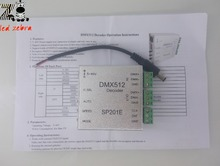 DMX512 Decoder DMX Controller For WS2801 WS2812B WS2811 5V,WS2801 WS2811 12V LED Strip Modules control 2048 pixels(China)