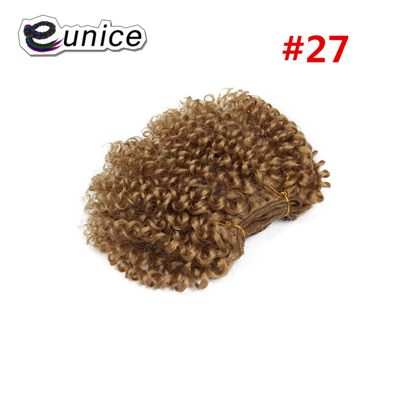 synthetic weaving 8INCH Jerry curly Braid ombre braiding hair weft extentions  (49)