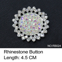 RB024 rhinestone Shoe buckle 10pcs/lot round resin crystal AB and strass sewwing accessories use for wedding dress ornament