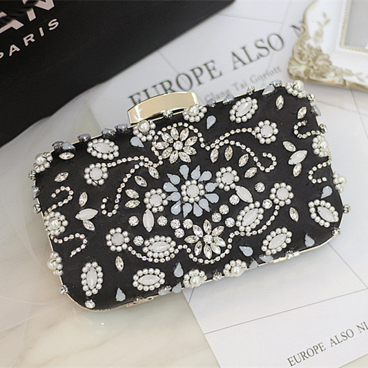 Evening bags for women Fashion brand designer Crystals Beaded day clutch bags new party crystal handbags clutches purse 2017<br><br>Aliexpress