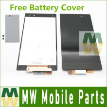 Buy LCD Get Free Housing Cover For Sony Xperia Z1 L39 L39H C6903 C6902 LCD Display +Touch Screen Assembly 1PC /Lot