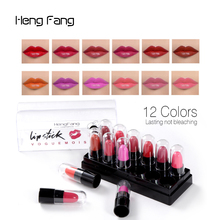 High Quality 12PCS/Pack Sample Size 12 Colors Moisturizing Lipstick Women Beauty Tool Portable Makeup Waterproof Lipstick